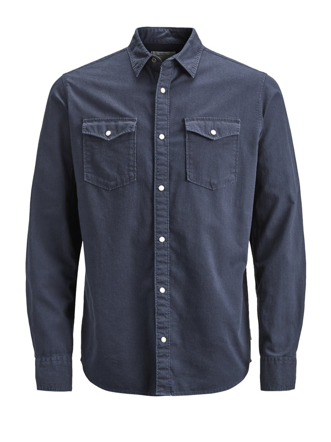 HEAVY COTTON WESTERN STYLE SHIRT Total Eclipse