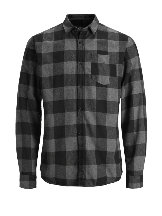 CLASSIC CHECKERED FLANNEL SHIRT Black