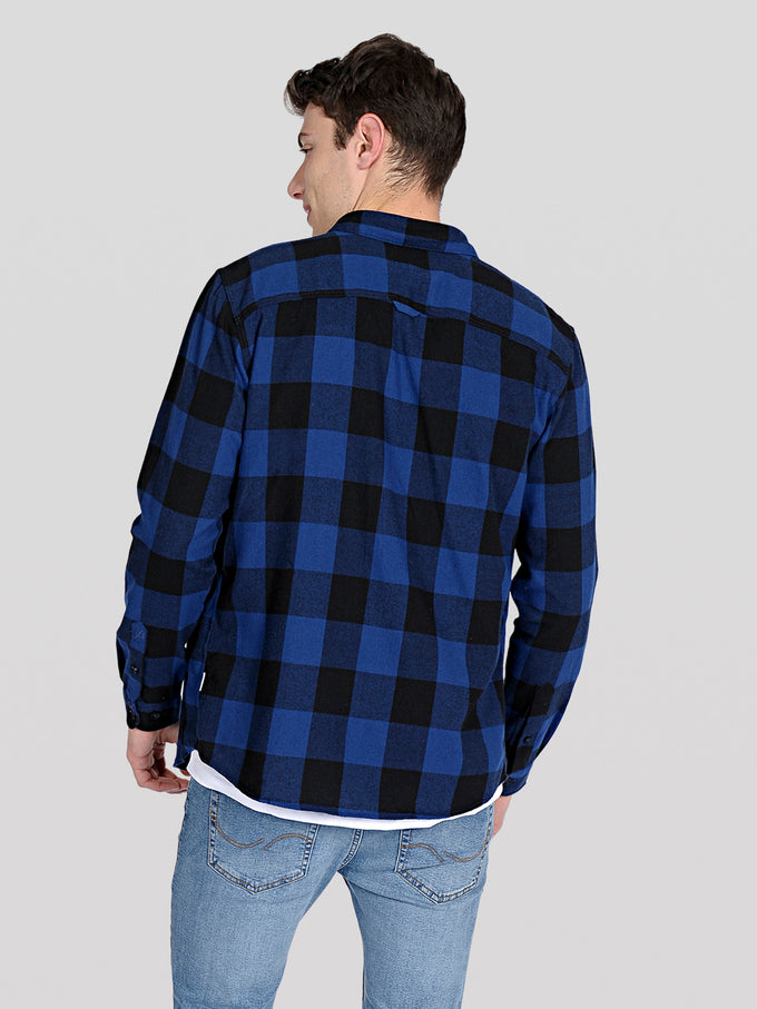 CLASSIC CHECKERED FLANNEL SHIRT Estate Blue