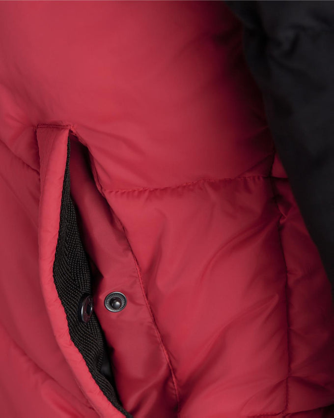 WATER-REPELLENT COLOURBLOCK JACKET Tango Red