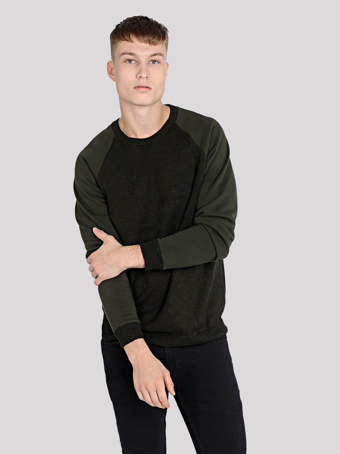 SWEATER WITH CONTRAST SLEEVES Rosin