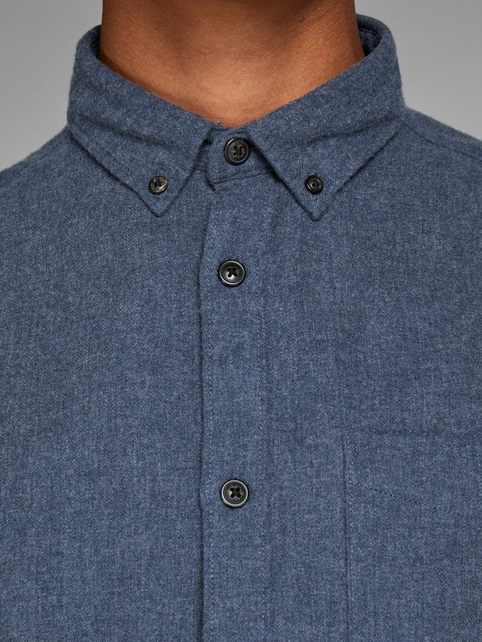 WORKWEAR STYLE FLANNEL SHIRT Total Eclipse