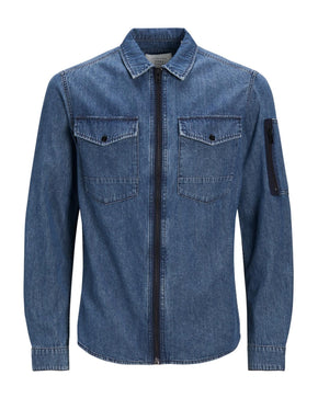 ZIPPED DENIM SHIRT