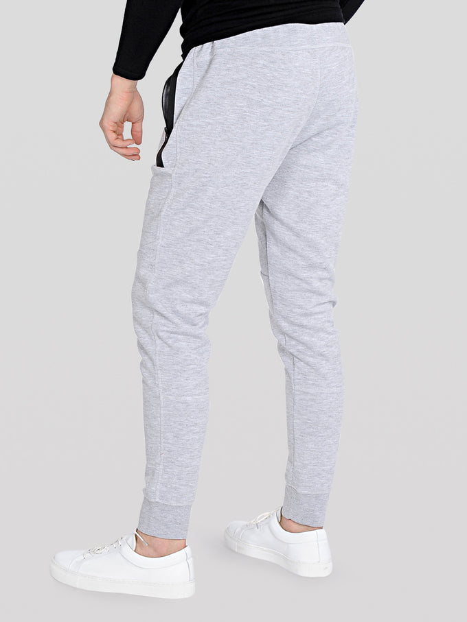 BASIC CORE SWEATPANTS Light Grey Melange