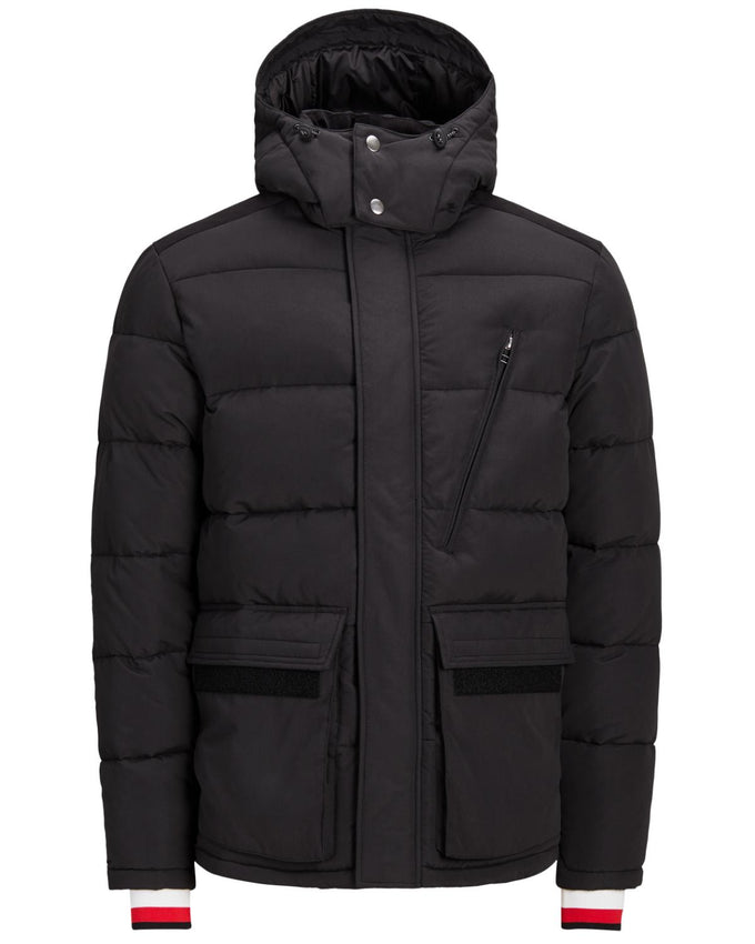 DETAILED PUFFER JACKET Black