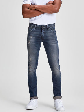 SLIM FIT GLENN 820 JEANS WITH USED DETAILS
