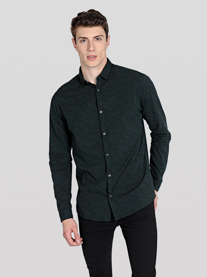 PATTERNED PREMIUM SHIRT Scarab