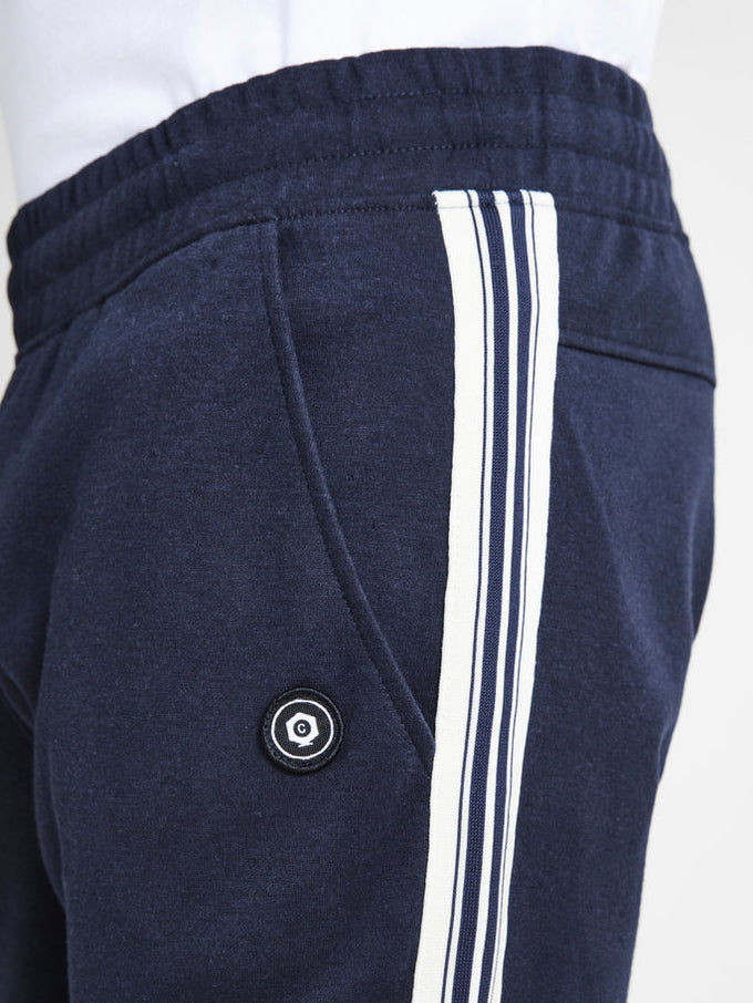 CORE STRIPED SWEATPANTS Sky Captain