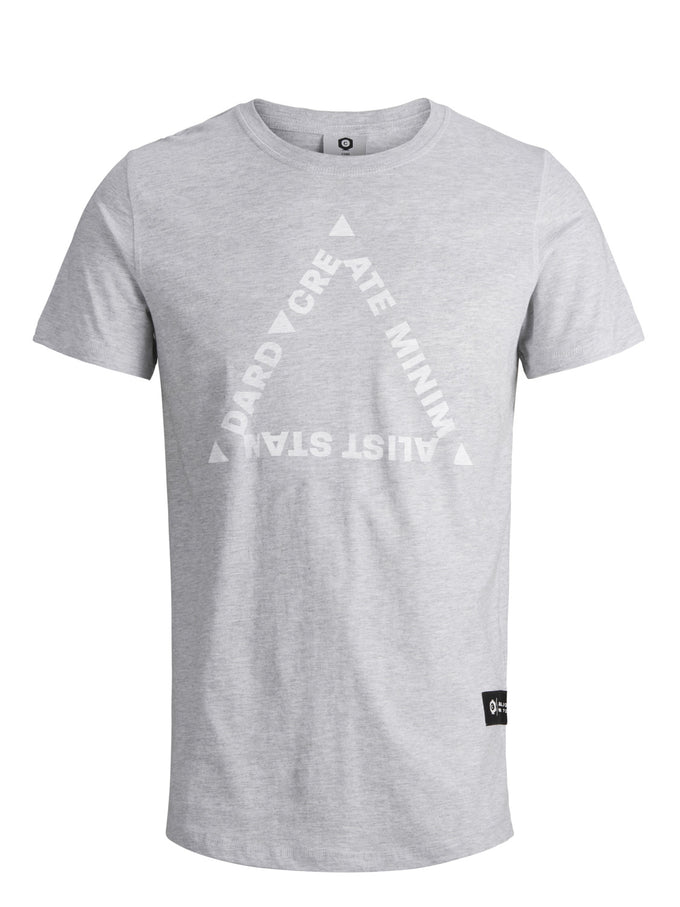 STRETCHY MELANGE STYLE CORE T-SHIRT Light Grey Melange