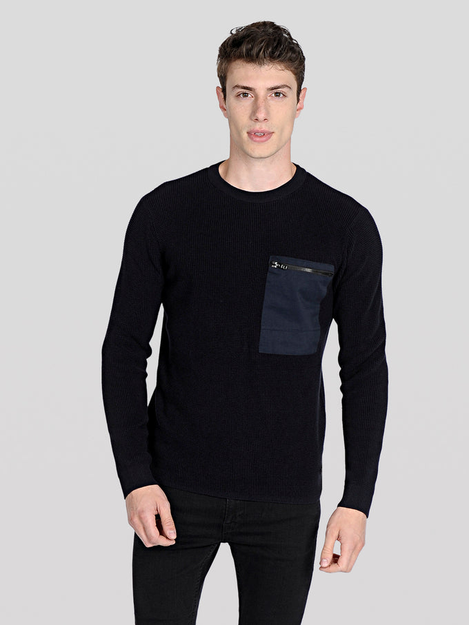 CORE KNIT SWEATER Black