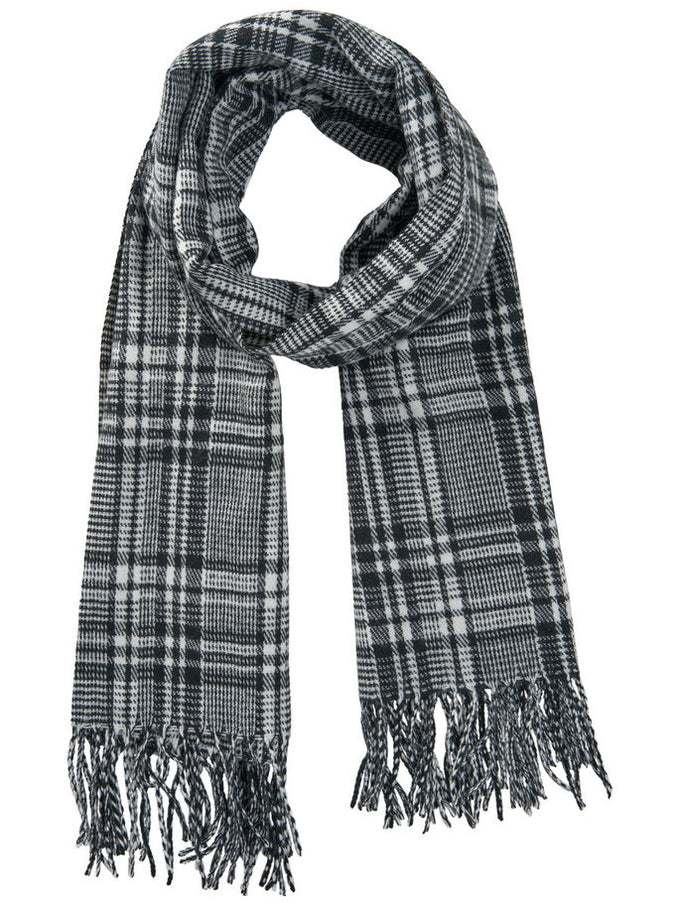 CHECKERED SCARF White