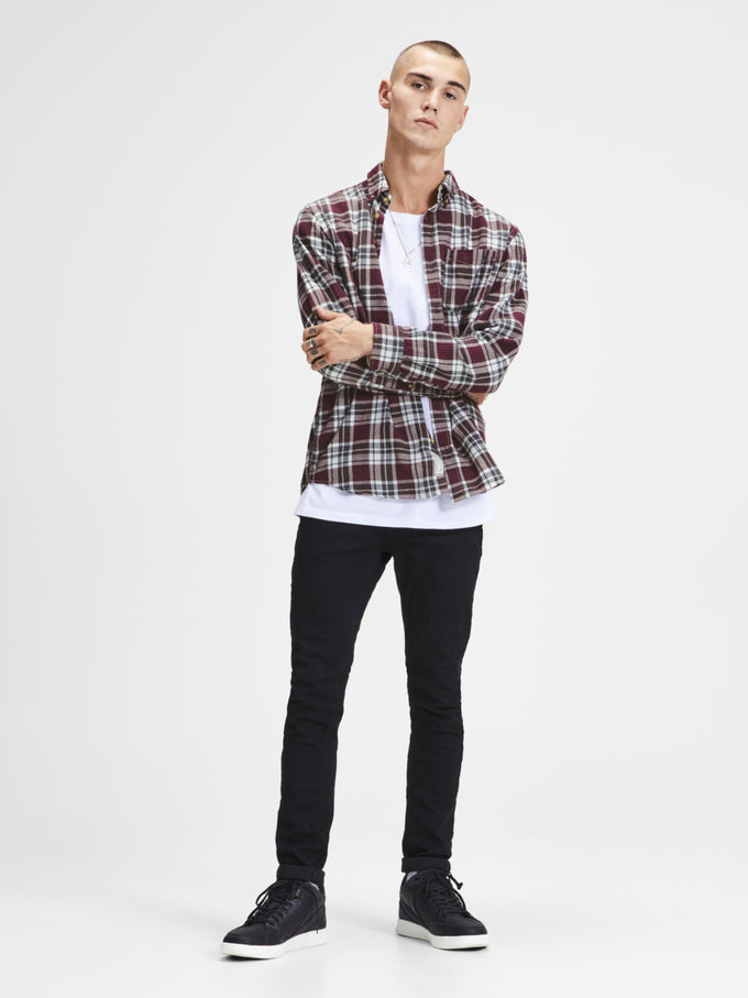 CHECKERED SLIM FIT PREMIUM SHIRT Sassafras