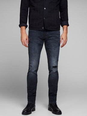 SLIM FIT GLENN 740 JEANS WITH USED DETAILS