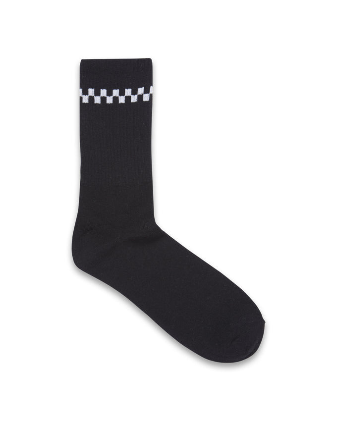 CHECKERED SOCKS White