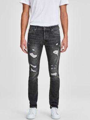 SLIM FIT GLENN 749 JEANS WITH USED DETAILS