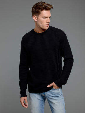 SWEATER WITH CONTRAST FABRIC