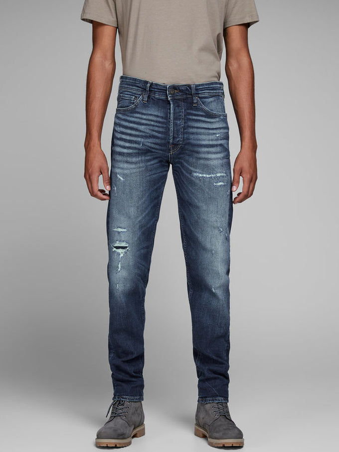 FRED 118 TAPERED FIT JEANS Blue Denim