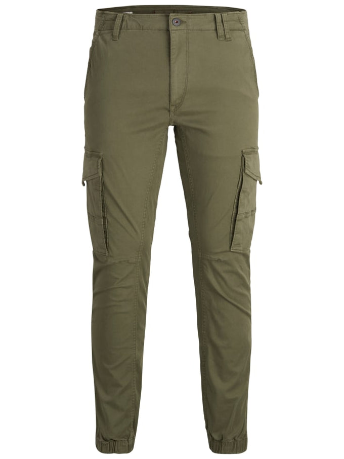 PAUL FLAKE CARGO JOGGER PANTS Olive Night