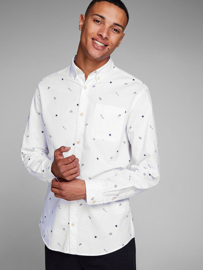 SYMBOLS SLIM FIT SHIRT White