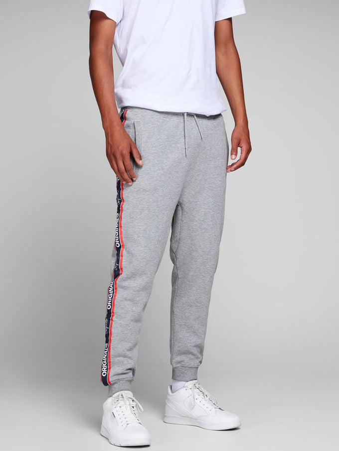 TAPE DETAIL ORIGINALS SWEATPANTS Light Grey Melange