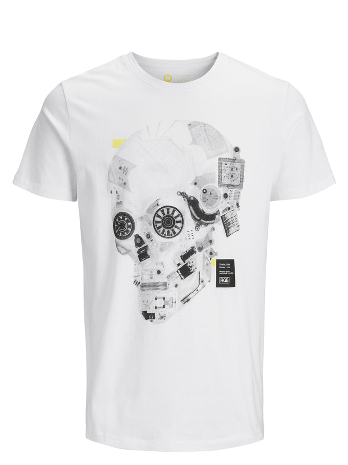 CORE T-SHIRT WITH ROBOTIC DETAILS White