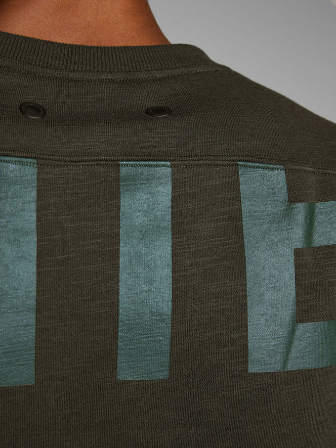 CORE SWEATSHIRT WITH LARGE PRINTS Rosin