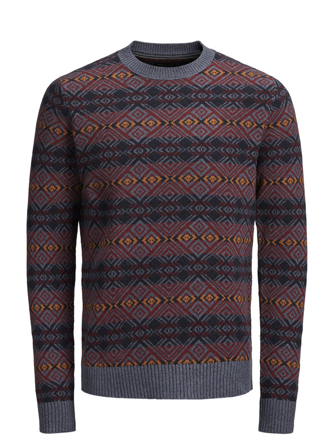 FAIR ISLE WOOL SWEATER Vintage Indigo