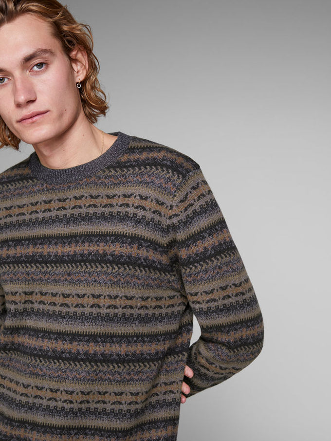 FAIR ISLE WOOL SWEATER After Dark