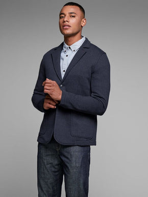 HERRINGBONE PATTERN SWEAT BLAZER