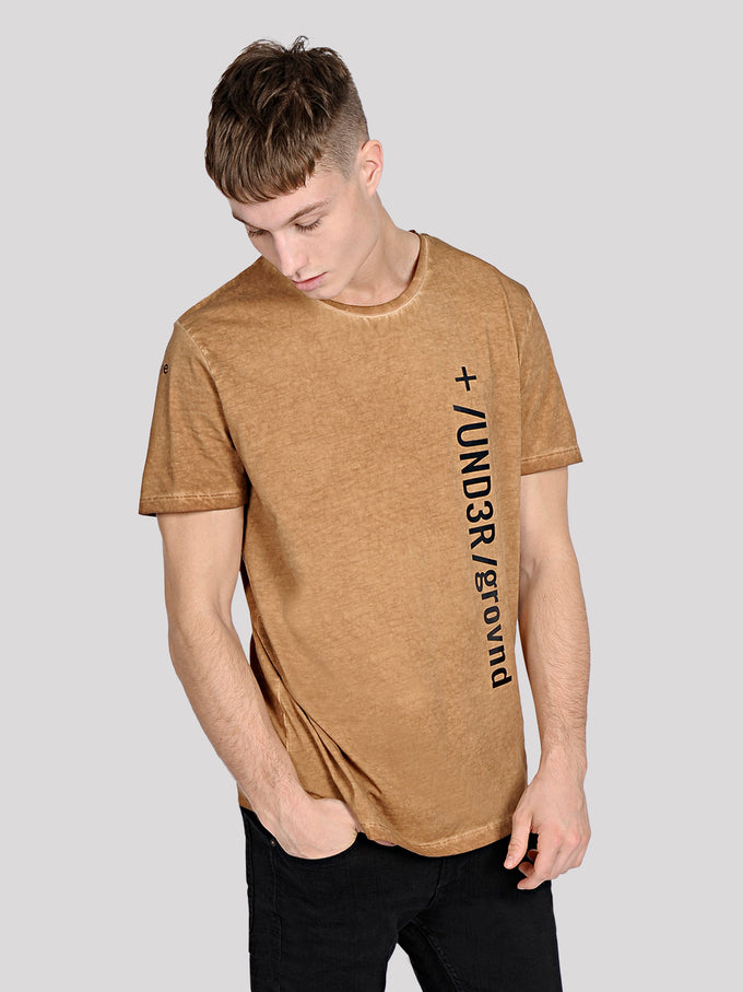 NUMERIC PRINT WASHED T-SHIRT Chipmunk