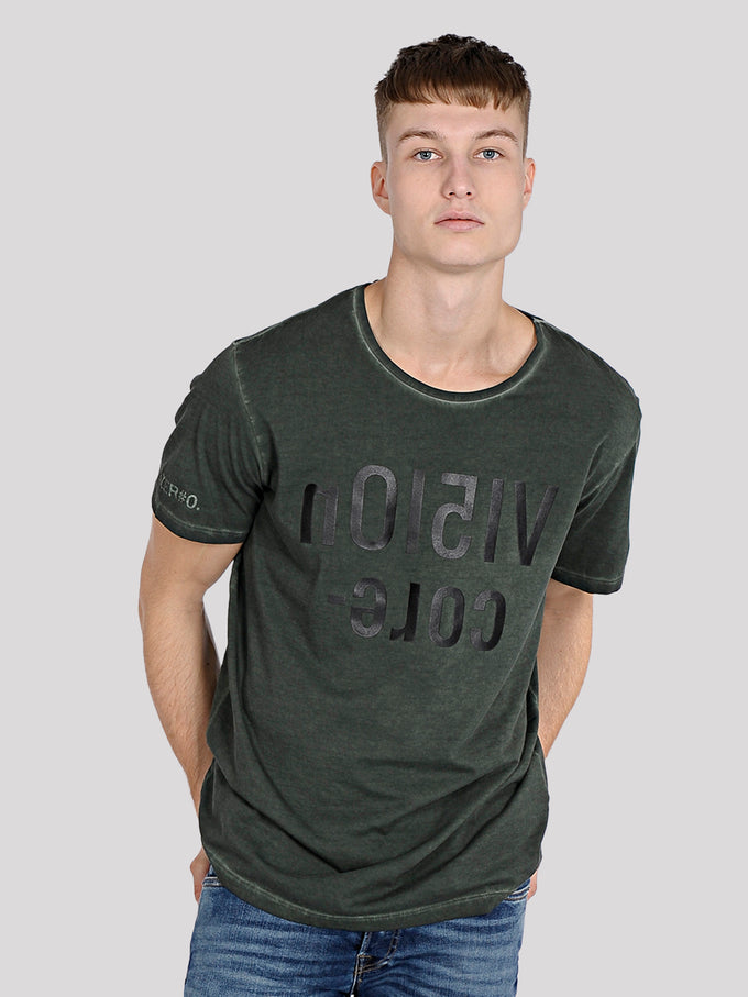 NUMERIC PRINT WASHED T-SHIRT Rosin