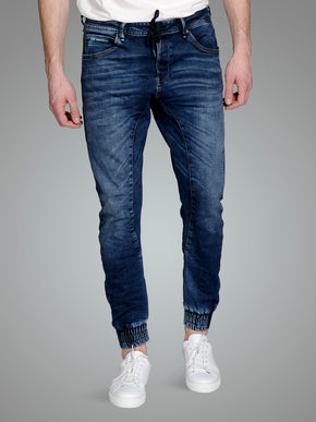 SLIM FIT DENIM JOGGER PANTS