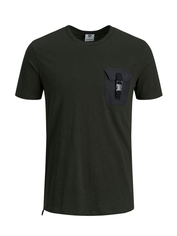 T-SHIRT WITH CLIPPED POCKET Rosin