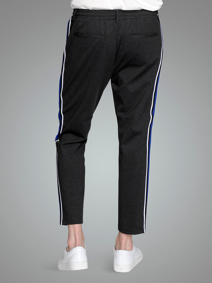 FINAL SALE – ATHLETIC STYLE TAPERED JOGGERS Dark Grey Melange