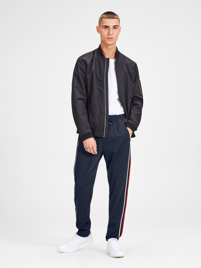 ATHLETIC STYLE TAPERED JOGGERS Navy Blazer