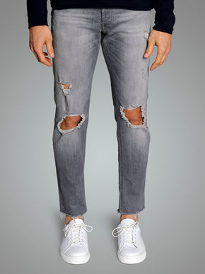 SLIM FIT GLENN 133 JEANS WITH RIPPED KNEES