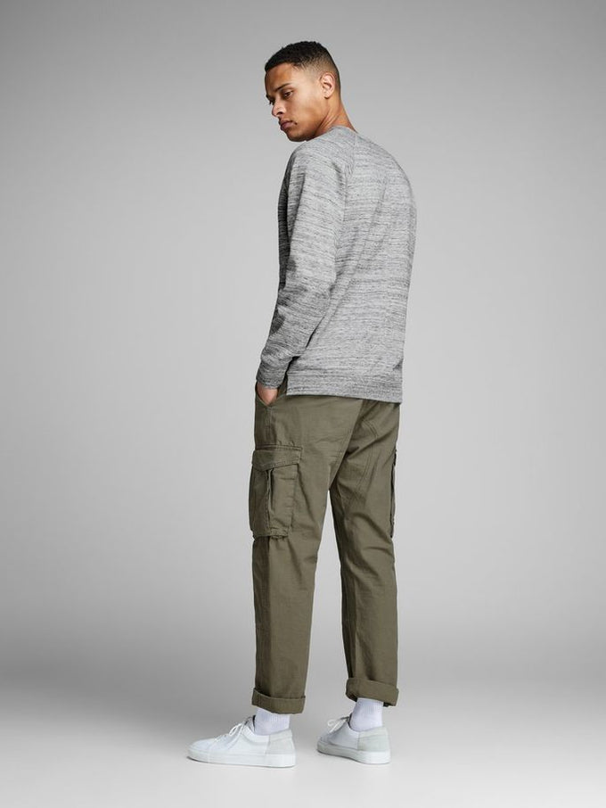 CORE HEATHERED CREWNECK Light Grey Melange