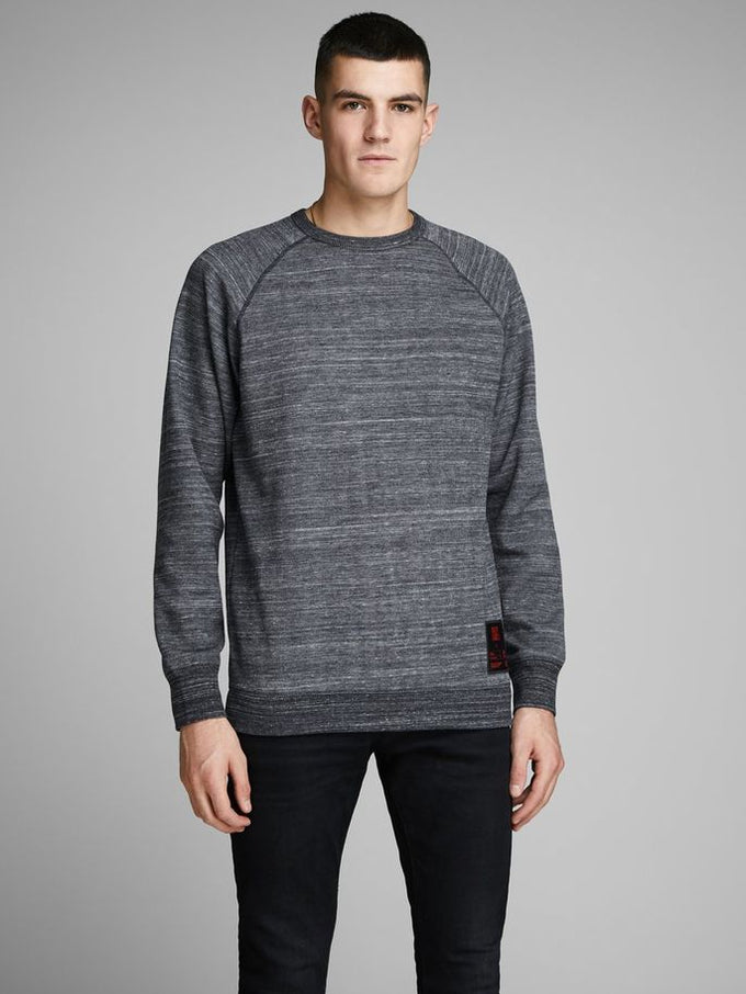 CORE HEATHERED CREWNECK Sky Captain