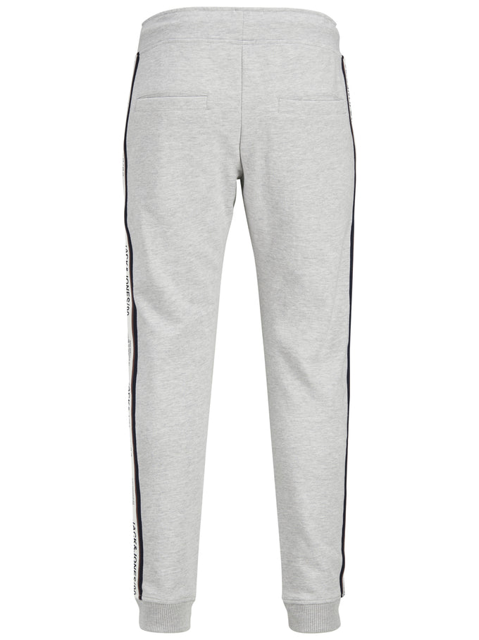 TAPE DETAIL CORE SWEATPANTS Light Grey Melange