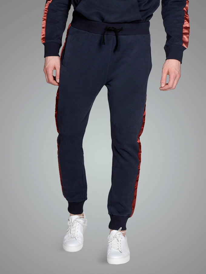 SWEATPANTS WITH SATEEN TAPE Total Eclipse