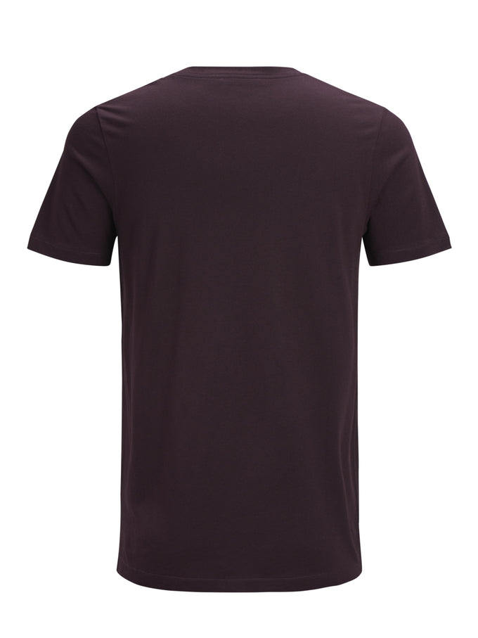 COTTON-MODAL SOLID T-SHIRT Winetasting