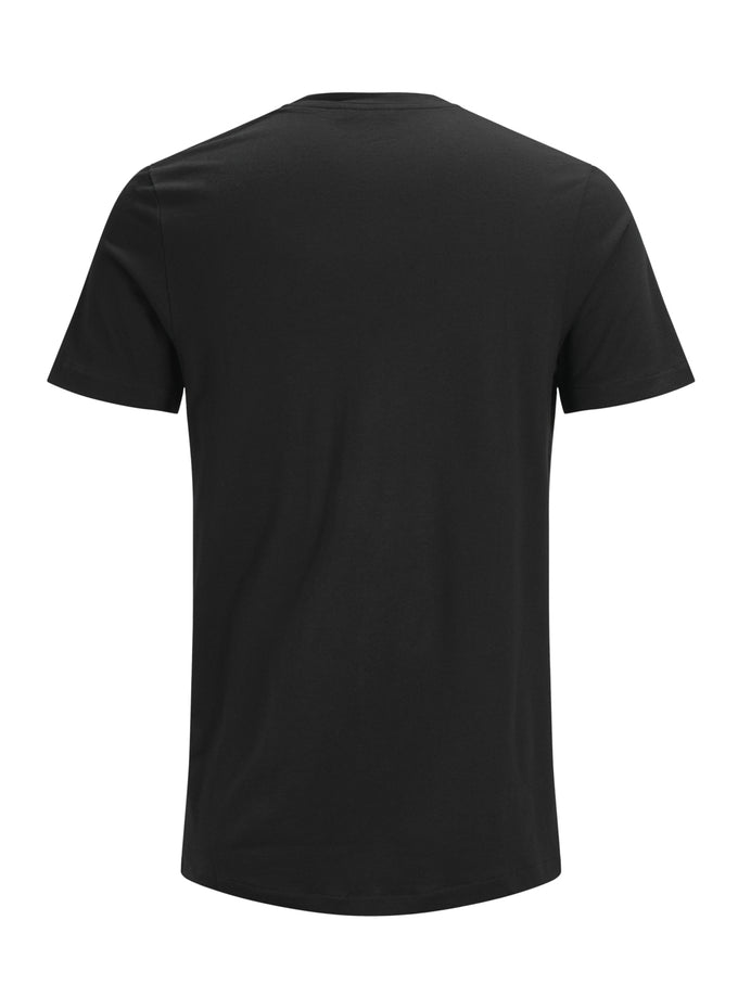 COTTON-MODAL SOLID T-SHIRT Black