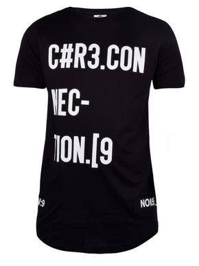LONG FIT NUMERIC PRINT T-SHIRT