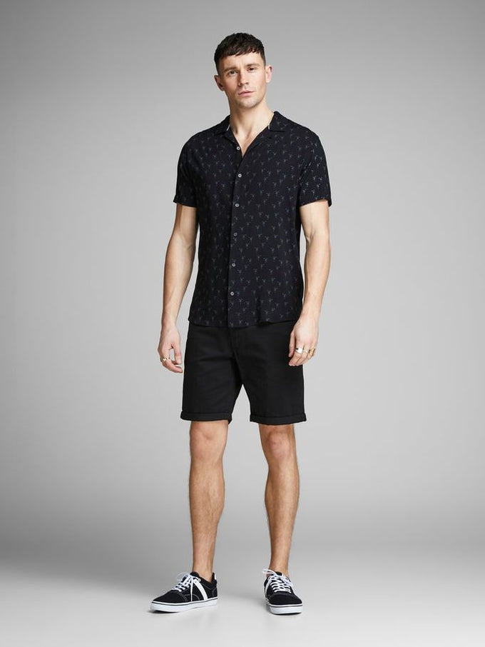 CLASSIC DENIM REGULAR FIT SHORTS Black