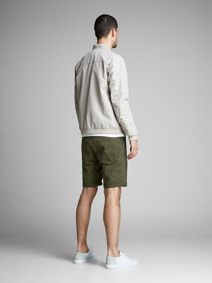 CLASSIC DENIM REGULAR FIT SHORTS Olive Night