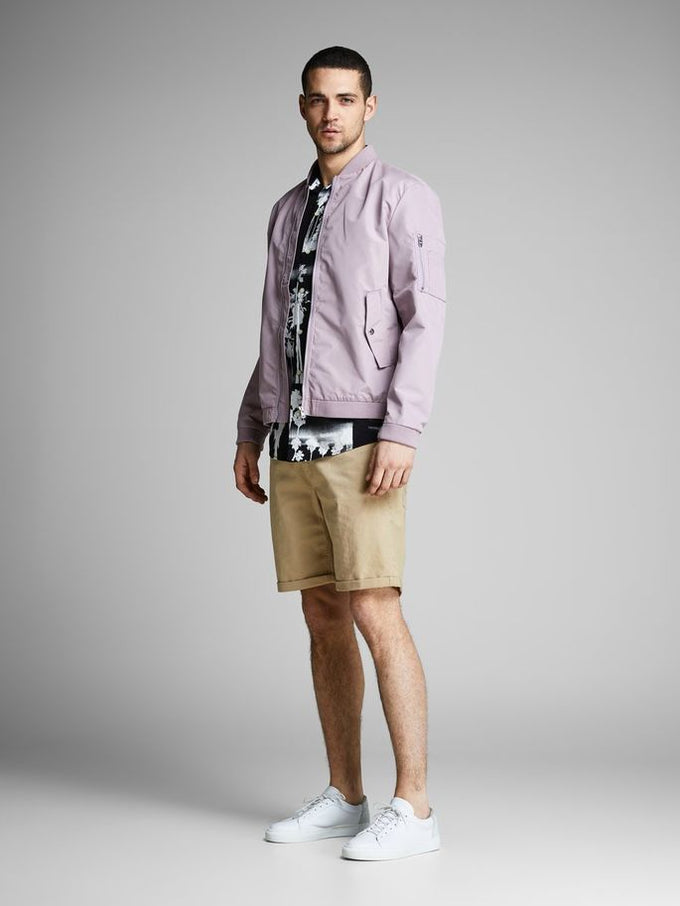 CLASSIC DENIM REGULAR FIT SHORTS White Pepper
