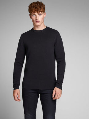 PREMIUM SWEATER WITH PATTERNED SLEEVES