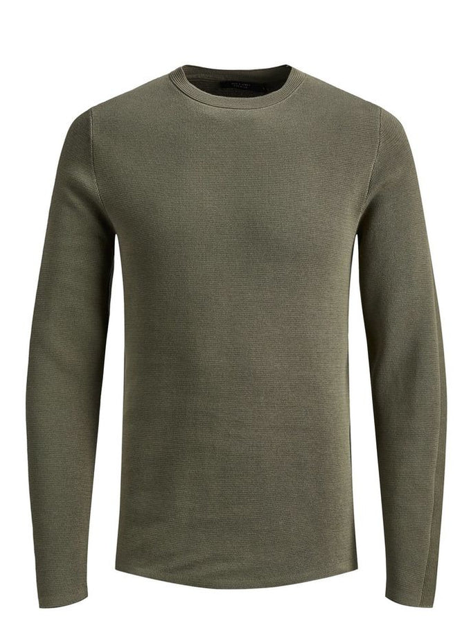 PREMIUM SWEATER WITH PATTERNED SLEEVES Kalamata
