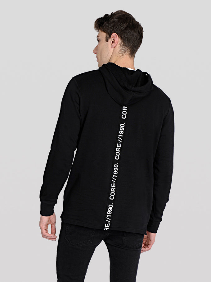 CORE HOODIE WITH TAPE DETAILS Black