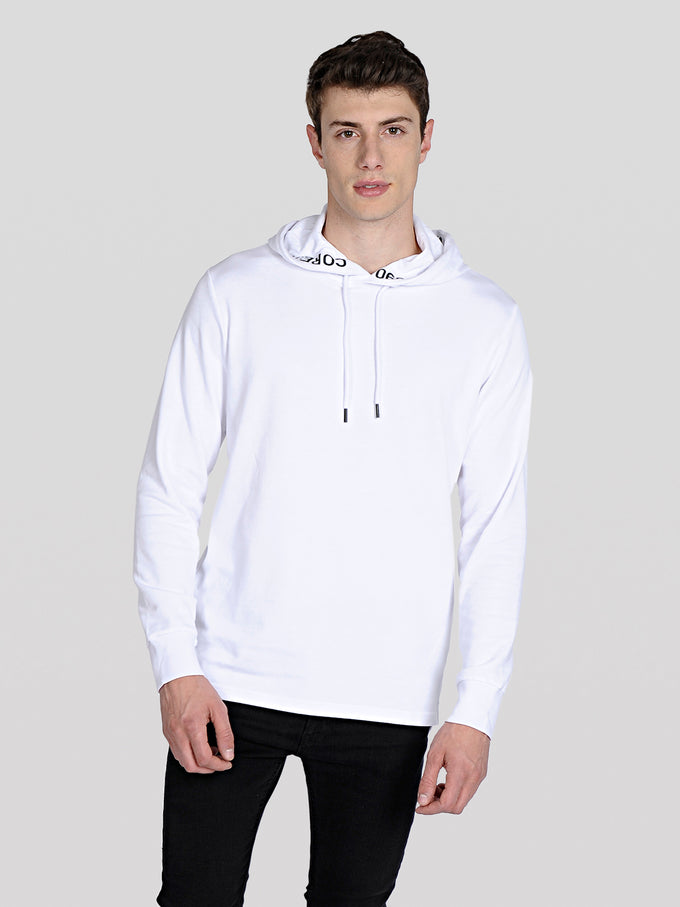 CORE HOODIE WITH TAPE DETAILS White